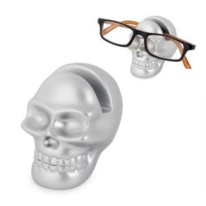 Eyeglasses holder Skully silver